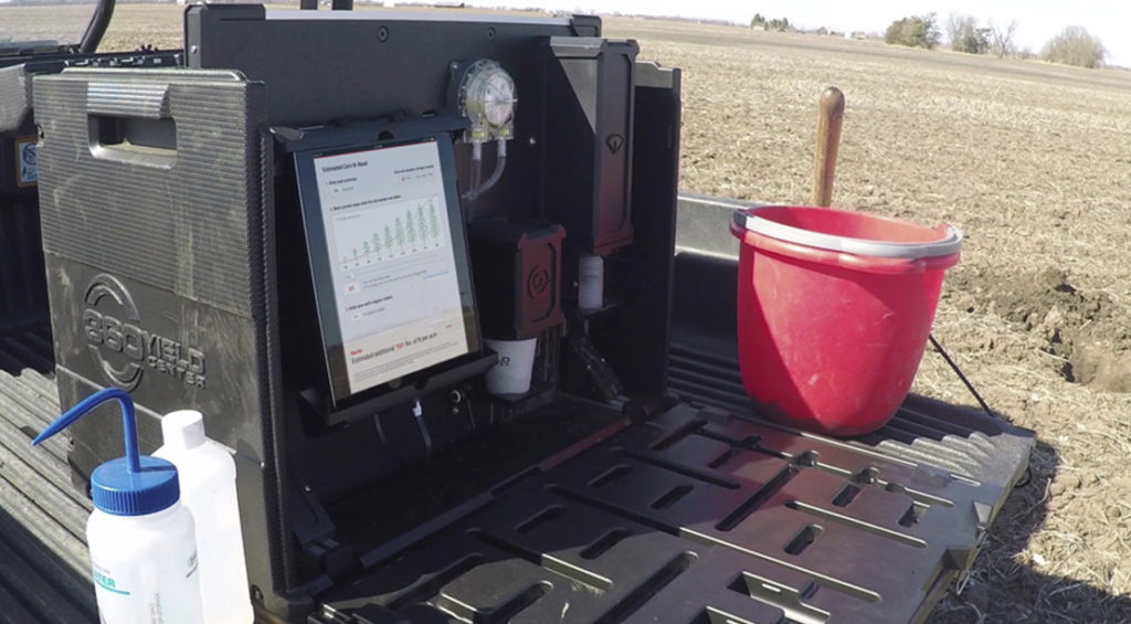 Soil Scan Machine used on back of pick-up truck